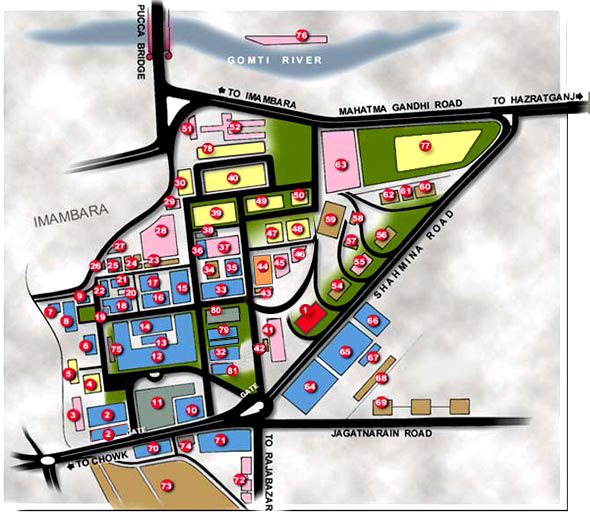 King University Campus Map.Howk Lucknow U P India King George S Medical University C